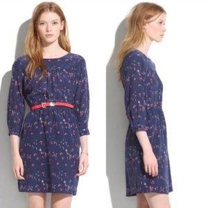 Madewell Taylor Silk Bird on Wire Dress
